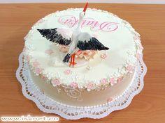 Torta Krstinová torta _ Christening, Baby, Stork _ Ako na to? hobby torty…