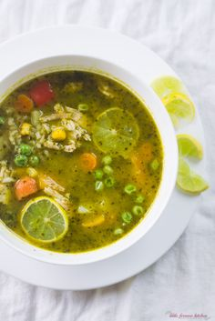 Peruvian Cilantro and Turkey Soup via LittleFerraroKitchen.com
