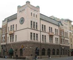 Åbo Aktiebank / Former Bank Building • 1907.  Frithiof Strandell, architect.