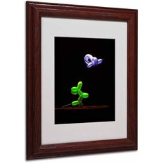 Trademark Fine Art Balloon Puppy by Roderick Stevens, Wood Frame, Size: 16 x 20, Multicolor