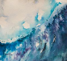 Surge, watercolour by Angela Fehr