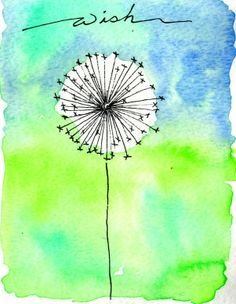 Watercolor dandelion