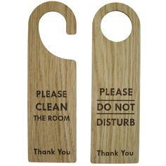 Wooden door signs / Do not disturb