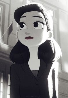 Meg from Paperman, a silent Disney short film that blended hand drawn and computer animation and one of the most beautiful things put to screen. I have to say it, I love this character design, I mean I am madly in love with her design. Once again, she looks like an animated personification of Beauty