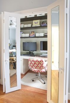 #Remodel your closet for a home office in no time at all!   www.remodelworks.com