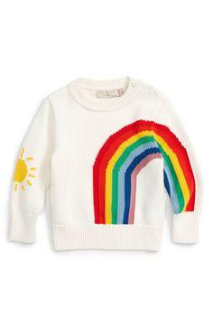 31edefb64 Main Image - Stella McCartney Kids Pumpkin Rainbow Sweater (Baby Girls) Baby  Girl Sweaters