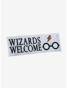 Harry Potter Wizards Welcome Desk Sign,