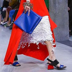 #Marni's chunky abstract sandals and bold hues provide a stylish wake up call on day 5 of #MFW. #SS16 #regram @sergekerbel
