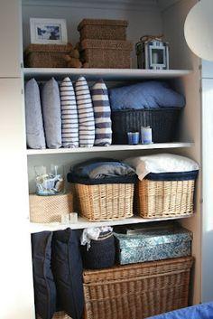 Closet Organization, Linen Closet, Baskets And Sorting