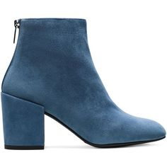 Stuart Weitzman BACARI (£435) ❤ liked on Polyvore featuring shoes, boots, ankle booties, booties, blue, stuart weitzman shoes, blue shoes and stuart weitzman