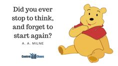 Productivity Quotes, Start Again, Winnie The Pooh, Disney Characters, Fictional Characters, Pooh Bear, Disney Face Characters