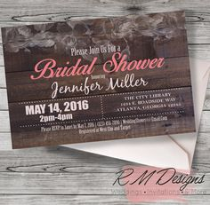Rustic Bridal Invitations! New Country/Barn Bridal Shower invitations are great for DIY!