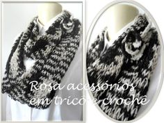 maxi gola tricot - knitting - knit - cowl by www.rosaacessorios.blogspot.com
