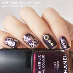 Will Paint Nails for Food: 31 Day Challenge: Day Eight, Metallic: Paisley, Taboo, Steampunk, and Studs
