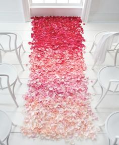 Ombre Wedding Ideas. Maybe not this particular idea, but as a color scheme? In Purple?