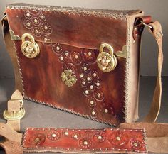 Steampunk leather bag by IsilWorkshop on Etsy, $160.00