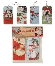 Retro Christmas Tags from The Holiday Barn
