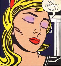 After Roy Lichtenstein 'No Thank You!' (1964) #12jpg (w 113 x h 121)cm printed onto Hahnemuehle 100% Cotton rag paper, canvas/linen or pexiglass. #The_Painting_coming_out_of_the_Printer. #contemporaryart #digital #konzeptkunst #modernekunst #popart #roylichtenstein #readymade #dada #appropriation #multiples #fluxus #australianart #northqueensland #ancient #yoga #vegetarianism #veganforlife #qigung #tcm #meditation #animalright