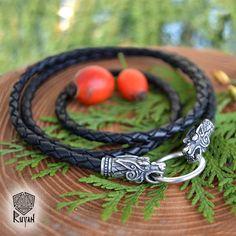 Lederband für Anhänger mit Wölfen von Odin. Lederband von RuyaN