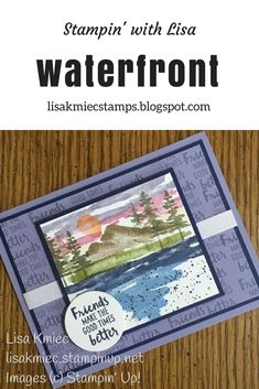 Stampin' with Lisa Stampin' Up! Waterfront stamp set 2018 Occasions catalog