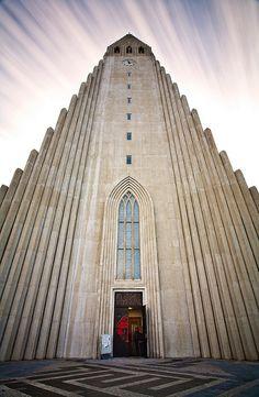 tower of Hallgrimskirkja in Reykjavik