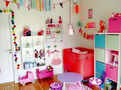Girls area in shared kids room