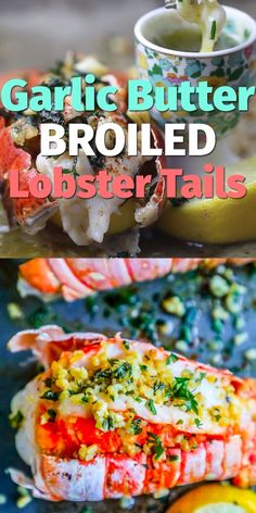 Easy and delicious 10 Minute Lemon Garlic Butter Broiled Lobster Tails is the best oven baked lobster tail recipe – just bursting with garlic and lemon flavor in just one pot for an easy romantic dinner that tastes like an expensive steakhouse! Oven Baked Lobster Tail Recipe, Lobster Tail Oven, Lobster Tail Pastry, Cooking Frozen Lobster Tails, Baked Lobster Tails, Lobster Dinner, Seafood Dinner, Seafood Boil, Shellfish Recipes