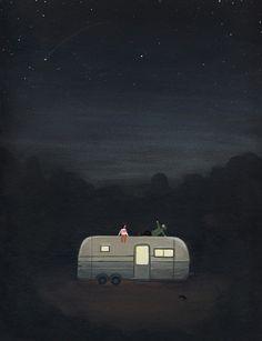 星空の下にキャラバンキャンプ