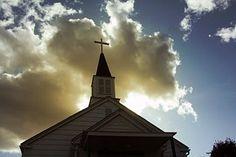 Church, Steeple, Sunset, Clouds