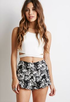 Ruffled Floral Print Shorts | Forever 21 | #styleguide
