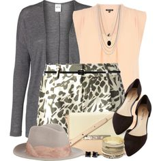 """""""Leopard & Peach"""" by brendariley-1 on Polyvore"""