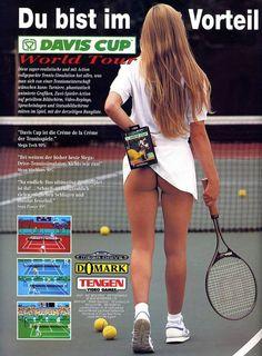 1993 ads for Tengen's Sega Mega Drive game Davis Cup World Tour 90s Video Games, Vintage Video Games, Alter Computer, Ranger, Tennis, Edition Collector, Pc Engine, Davis Cup, 1980s