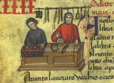 Arte degli orafi e di Por Santa Maria, MS Ricc. 2526 (Libro delle Gabelle),  c. 3v, 1360-1370 c. (Firenze); Biblioteca Riccardiana, Firenze, Italia