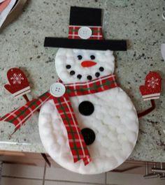 Paper plate snowman project