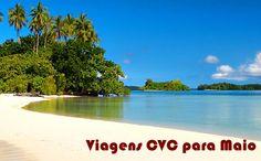 Melhores ofertas de maio na CVC - Viagens #maio #cvc #viagens