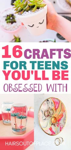 16 DIY Crafts for Teen Girls that are also great crafts to make and sell or that make easy DIY gifts. #easydiy #teens #teencrafts #craftstomakeandsell #diy #crafts #diygifts