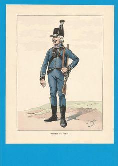 France -Planche de JOB - Emigrés.Chasseur de DAMAS. | Collections, Militaria, Documents, revues, livres | eBay!
