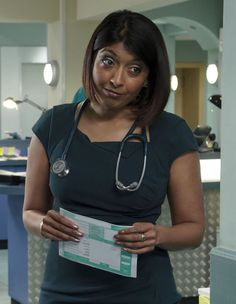SUNETRA SARKER: Met her filming 'No Angels'. Lovely lady, there were lots of breaks between takes to see the 'real' her. Said how much she liked my earings and was genuinely friendly. PART: Nurse (not my story, but I wish it were! Hospital Tv Shows, Working Mums, Strictly Come Dancing, English Actresses, Famous Faces, On Set, Favorite Tv Shows, Fandoms, Celebs