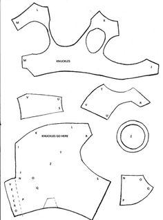 This is the template I used for my Iron Man Gauntlet - but this guy's work is brilliant all around
