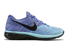 Nike Flyknit Lunar Chaussures Nike Officiel Pour Femme Purple - Bleu - Noir