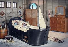 I know he'll grow out of this in a short time, but I thought this was one of the better looking pirate beds out there.