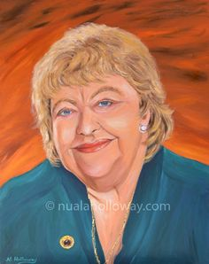 """Portrait of Maeve Binchy"" by Nuala Holloway - Oil on Canvas www.nualaholloway.com #MaeveBinchy #IrishArt #NualaHolloway #Author"