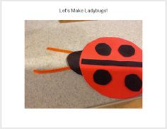 Musings about life,  and free printable for making ladybugs