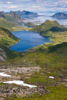 View towards Svolvaer, Lofoten Islands, Norway by Henrik Johansson