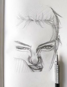 drawings that look hard Drawing Pencils – 37 Sketching Art Set Pencil Art Drawings, Cool Art Drawings, Art Drawings Sketches, Easy Drawings, Drawing With Pencil, Sketches Of Love, Sketches Of People, Portrait Sketches, Portrait Au Crayon