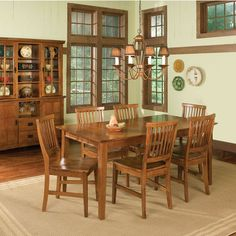 Home Furnishings - Arts & Crafts Cottage Oak Dining Table & Chairs by Home Styles | KitchenSource.com