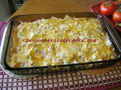 CHICKEN TORTILLA CHIP CASSEROLE ... my mom has made a dish like this for years but with Doritos!.. yum!