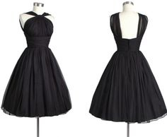 Black Halter Ruching Waist Short Cocktail Dresses Classic Little Black Dress Knee Length Prom Dress Halter Taffeta Bridesmaid Dress