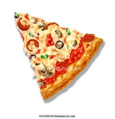 Drawings of Pizza triangle shape, with mozzarella cheese and several ingredi k15356134 - Search Clip Art Illustrations, Wall Posters, and EPS Vector Graphics Images - k15356134.jpg