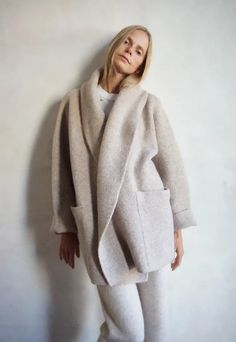 Lauren Manoogian Double Faced Coat in Bale – VESTIGE Hooded Sweater, Sweater Coats, Sweaters, Capsule Wardrobe, Relaxing Day, Winter Outfits, Winter Clothes, Alpaca Wool, Passion For Fashion